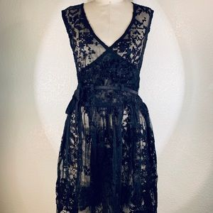 Johnny Was Ansleigh emb mesh dress size S NWT